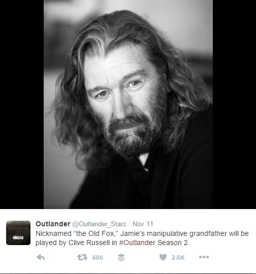 Outlander Season 2: Clive Russell Cast As Lord Lovat
